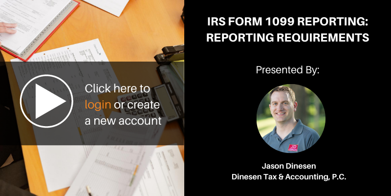 Irs form 1099 reporting