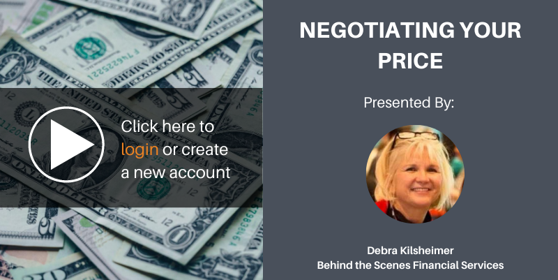 Negotiating your price