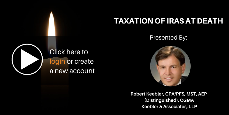 Taxation of iras at death